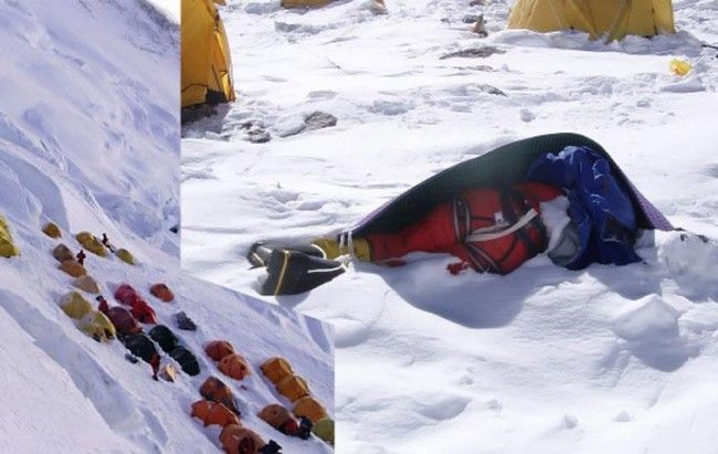 fotos de alpinistas muertos en el everest - historias de los cadaveres del everest